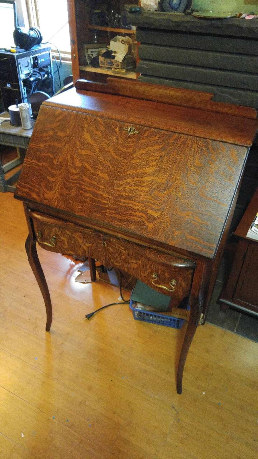 - Antique Tiger Oak Secretary Desk In Charleston - Letgo