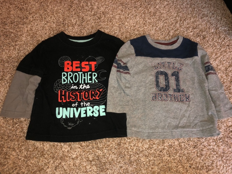 Photo Size 18 month long sleeve brother shirts
