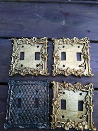 4 pcs. Antique Heavy cast iron double switch cover Fairfax, 22033
