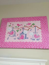pink and white polka-dotted bird cage board Markham, L3T 3V2