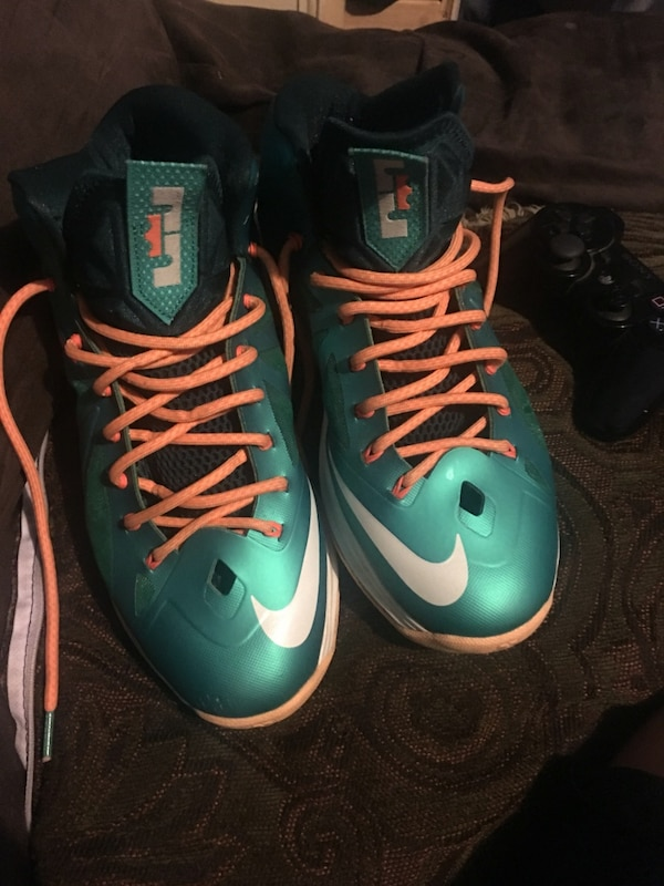 Offer Up Los Angeles >> Used Offer Up Lebron 10 S Miami Dolphins Sz 9 5 For Sale