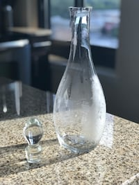 Clear glass decanter Silver Spring, 20902
