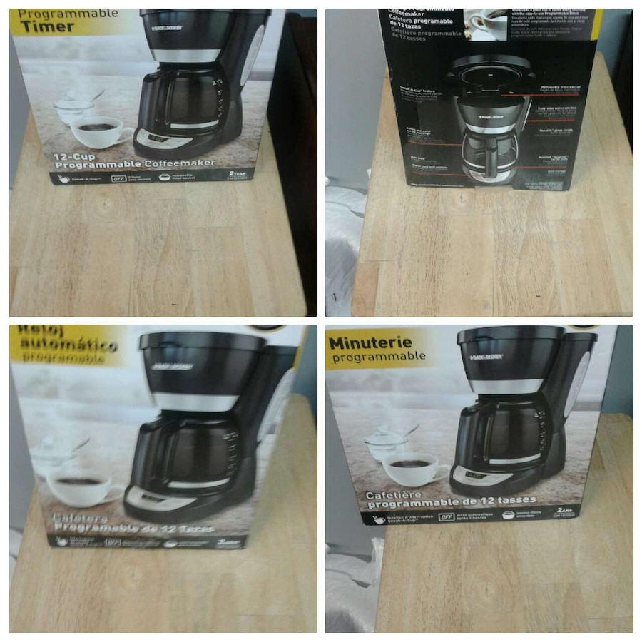 Black.and Decker 12 cup coffee maker