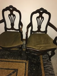 2 brown and gray padded armchairs Milano, 20156