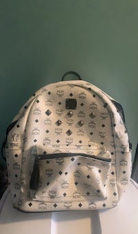 MCM white backpack