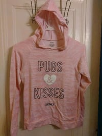 pink and white Aeropostale pullover hoodie Hammond, 46327