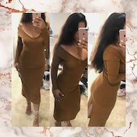Women's brown and black long-sleeved dress Antioch, 94509