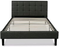black and white wooden bed frame Falls Church, 22043