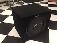 Kicker Amp and 12 inch CompR Subwoofer.  Augusta, 30904