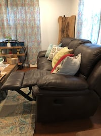 Black leather sofa chair with ottoman pull ups on each end of couch!! PILLOWS NOT INCLUDED  Silver Spring, 20902
