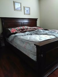King wooden bed  frame with mattress and box  Mississauga, L4Z 3Y2