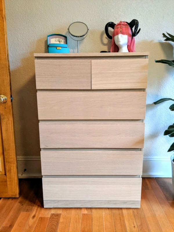 Sold Ikea Malm Chest Of Drawers White
