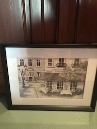 Nice Christmas gift. Two framed wall art pieces both for $15