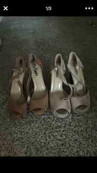 Women's two pairs of brown and tan pumps  586 mi