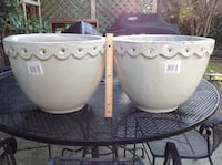 Large Ceramic (heavy duty) Clay Pots $10per or all 4 for $30 Rockville, 20851
