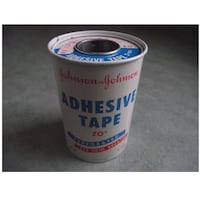 JOHNSON & JOHNSON ADHESIVE TAPE ZO* VINTAGE Metal TIN 639 km