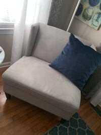 Tufted Velvet Couch ($450) and Chair ($175) NEWPORTNEWS