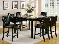 7pc Counter Height Table Set  Ontario