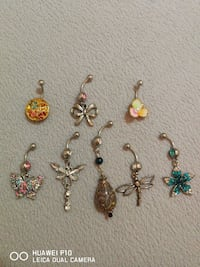 assorted belly button rings