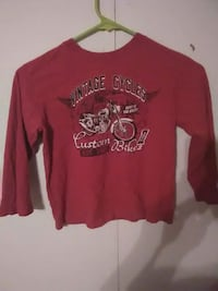 red and white crew-neck sweatshirt Blacksburg, 24060