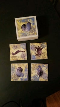 four seashell coasters Hopewell, 23860