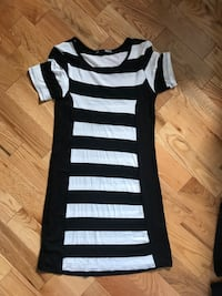 black and white stripe scoop-neck shirt Russell, K0A 1W0
