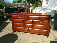 Price firm.. beautiful real wood large dresser chest Deer Park, 11729