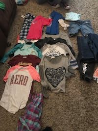 Teenagers assorted clothes