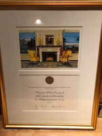 White House Christmas card from George and Laura Bush Fairfax, 22030