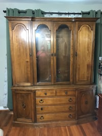 Heavy wood China cabinet Silver Spring, 20902