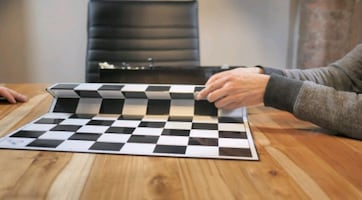 "Folding Chess Board ""Make Your Fold Count"""