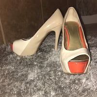 7 1/2 Orange tip High heels Meridian, 83642