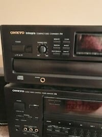 Onkyo stereo receiver and 6 Disc player