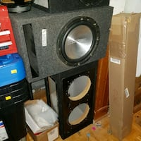 black and gray subwoofer speaker Cambridge, N1R 5S6