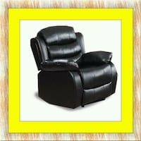 Black recliner chair free delivery  Temple Hills