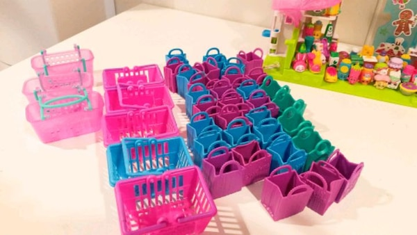 Used Shopkins Toys With Basket And Shelve 100 Pieces For Sale In