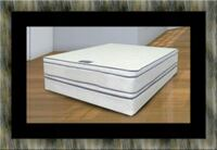 Queen mattress double pillow top with box spring Alexandria