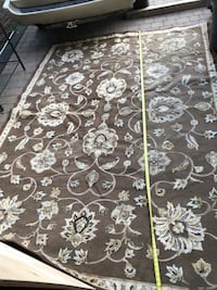 black and white floral area rug Laval, H7M 4N8