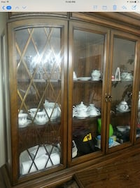 brown wooden framed glass display cabinet Vaughan, L6A 0A3
