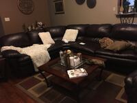 black leather sectional couch with ottoman Killeen, 76542