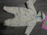 white and multicolored zip-up blanket sleeper Edmonton, T5P 2Y4