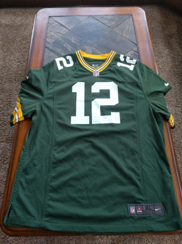 the latest 48247 8fc23 XL Authentic Nike Aaron Rodgers jersey