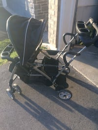 baby's black and gray sit and stand stroller