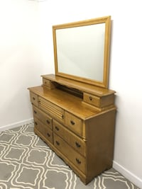 brown wooden dresser with mirror Abbotsford, V2T 2H4