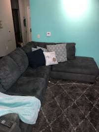 Nearly new grey micro suede grey sectional with chaise & Queen size sleeper sofa! Arlington, 22201