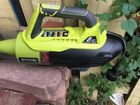 Yellow and black ryobi air blower