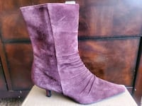 Suede purple boots