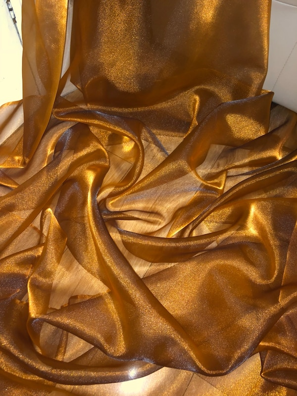 140340348e7e Used 1 MTR COPPER ORGANZA VOILE FABRIC for sale in Halifax - letgo