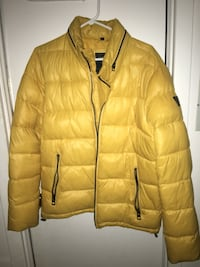 brown zip-up bubble jacket Toronto, M6N 2J7