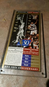 RAPTORS GAME 1 GOLD TICKET ONLY 1 MADE